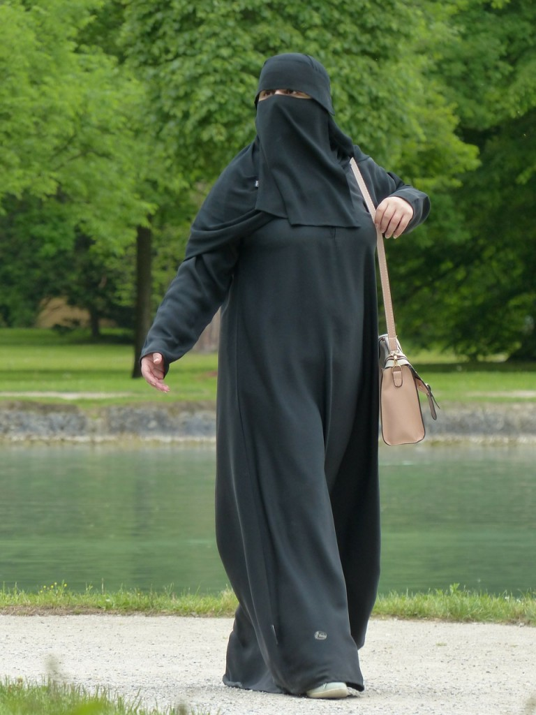 woman in a burka