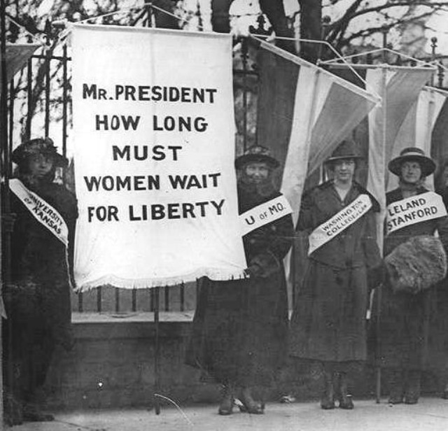 women fighting for the right to vote