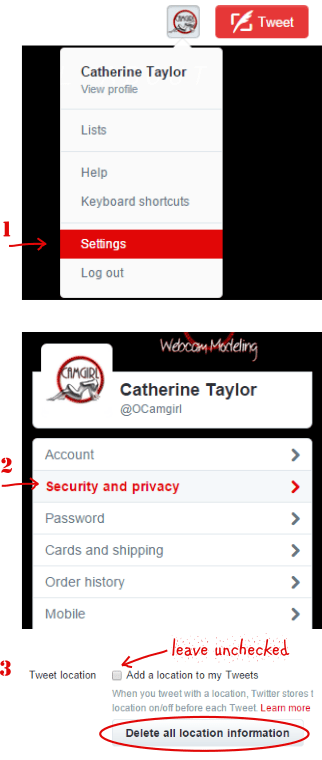 Disable Twitter Location posting